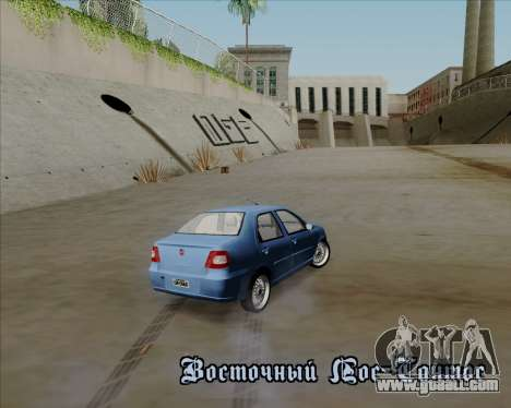 Fiat Siena 2008 for GTA San Andreas upper view