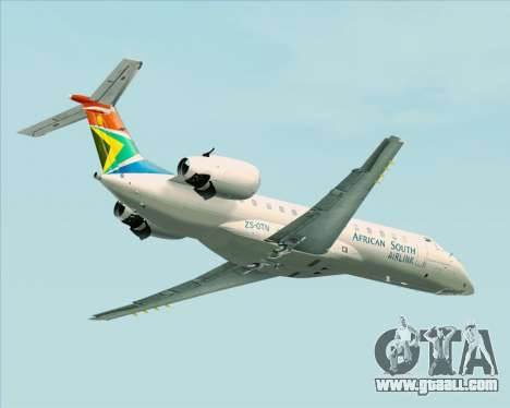 Embraer ERJ-135 South African Airlink for GTA San Andreas back view