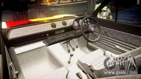 Ford Escort RS1600 PJ93 for GTA 4 inner view