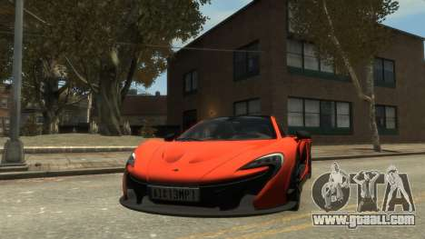 McLaren P1 2013 [EPM] for GTA 4 back left view