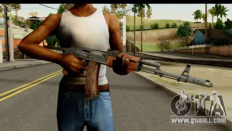 AKS-74 Dark Wood for GTA San Andreas third screenshot