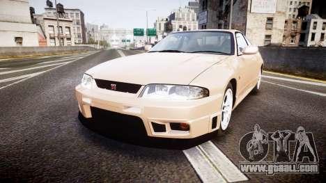 Nissan Skyline R33 GT-R V.spec 1995 for GTA 4