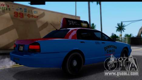 Taxi Vapid Stanier II from GTA 4 for GTA San Andreas back left view