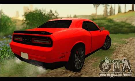 Dodge Challenger SRT HELLCAT 2015 for GTA San Andreas back left view