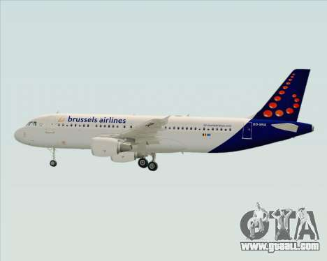 Airbus A320-200 Brussels Airlines for GTA San Andreas engine