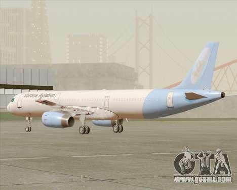 Airbus A321-200 Vorona Aviation for GTA San Andreas left view