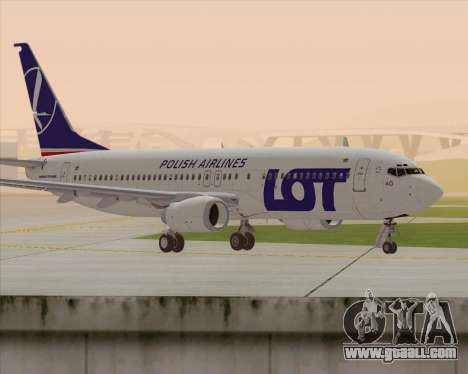 Boeing 737-800 LOT Polish Airlines for GTA San Andreas back left view