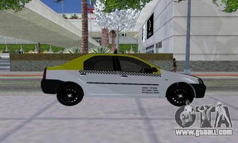 Dacia Logan Taxi for GTA San Andreas right view
