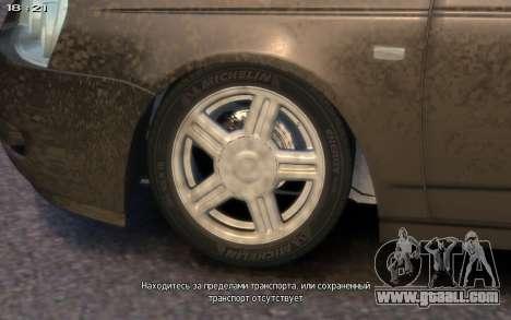 Lada 2172 for GTA 4 inner view