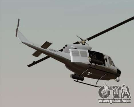 Bell UH-1N Huey USMC for GTA San Andreas left view