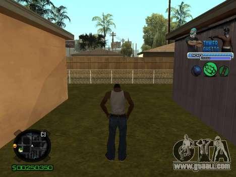 C-HUD для Ghetto for GTA San Andreas