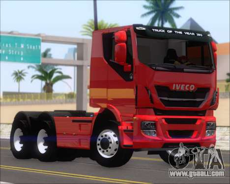 Iveco Stralis HiWay 6x4 for GTA San Andreas left view