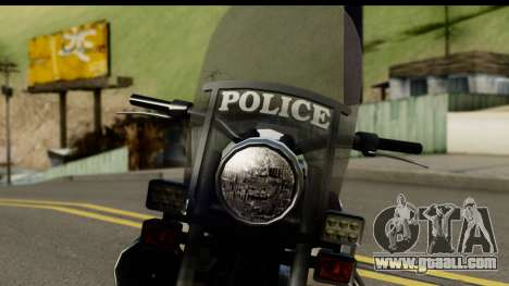 Police Bike GTA 5 for GTA San Andreas back view
