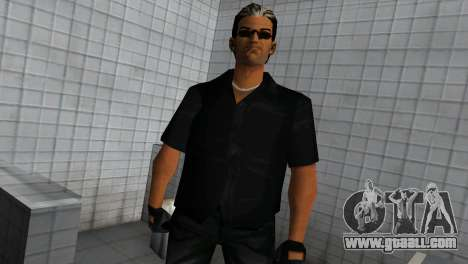 Tommy In Black for GTA Vice City second screenshot
