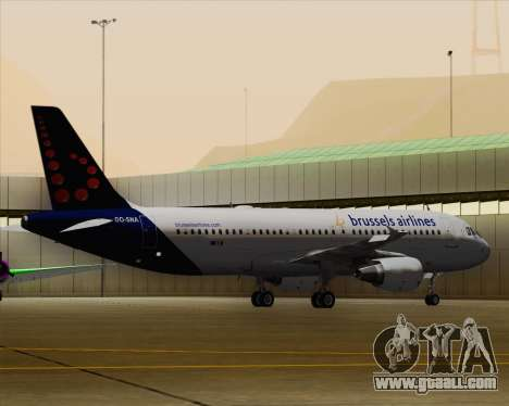 Airbus A320-200 Brussels Airlines for GTA San Andreas bottom view