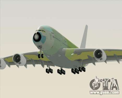 Airbus A380-800 F-WWDD Not Painted for GTA San Andreas side view