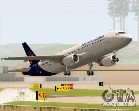 Airbus A320-200 Brussels Airlines for GTA San Andreas wheels