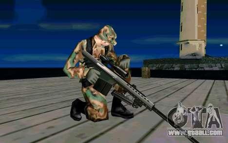 Barret M107 for GTA San Andreas forth screenshot