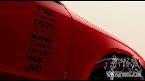 Audi S4 2010 Blacktop for GTA San Andreas back left view