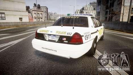 Ford Crown Victoria Police Alderney [ELS] for GTA 4 back left view