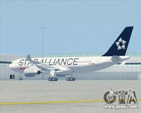 Airbus A330-200 SWISS (Star Alliance Livery) for GTA San Andreas back view