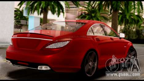 Mercedes-Benz CLS 63 AMG 2010 for GTA San Andreas inner view