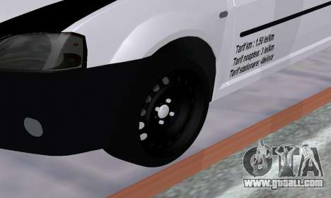 Dacia Logan Taxi for GTA San Andreas inner view