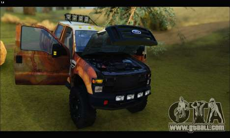 Ford F-250 Rusty Lifted 2010 for GTA San Andreas side view