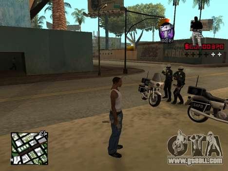 C-HUD by Alesha for GTA San Andreas second screenshot