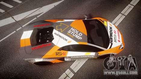 Lamborghini Aventador 2012 [EPM] Hankook Orange for GTA 4 right view