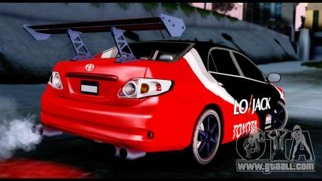 Toyota Corolla 2012 LOJACK Racing for GTA San Andreas left view
