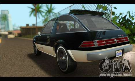 Declasse Rhapsody (GTA V) (SA Mobile) for GTA San Andreas back left view