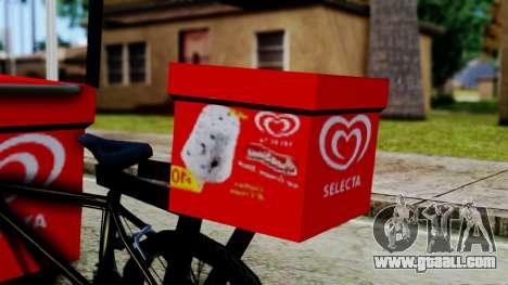 Selecta Ice Cream Bike for GTA San Andreas back left view