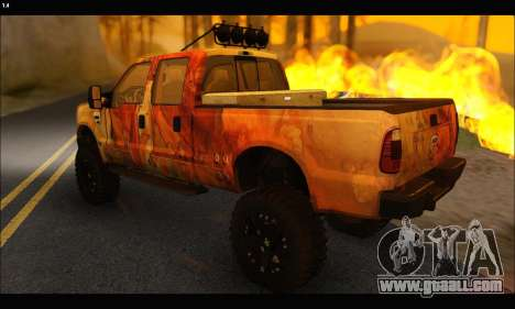 Ford F-250 Rusty Lifted 2010 for GTA San Andreas back view
