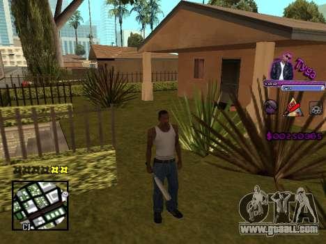 C-HUD by Tyga for GTA San Andreas