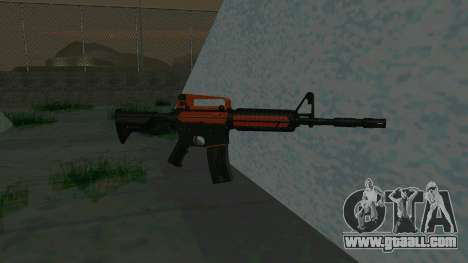 Orange M4A1 for GTA San Andreas second screenshot
