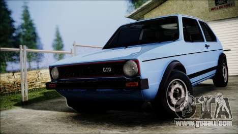 Volkswagen Golf Mk1 GTD for GTA San Andreas back view