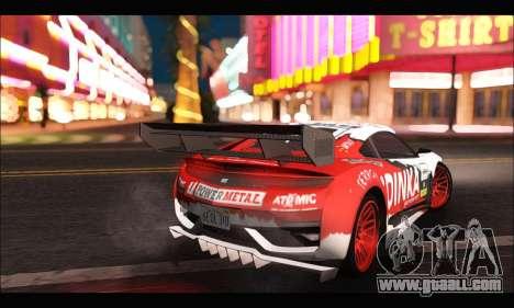 Dinka Jester Racear (GTA V) for GTA San Andreas back left view