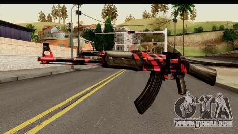 Red Tiger AK47 for GTA San Andreas