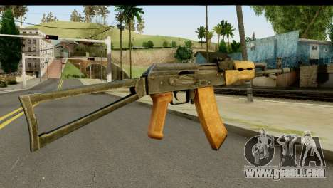 AKS-74 Light Wood for GTA San Andreas second screenshot