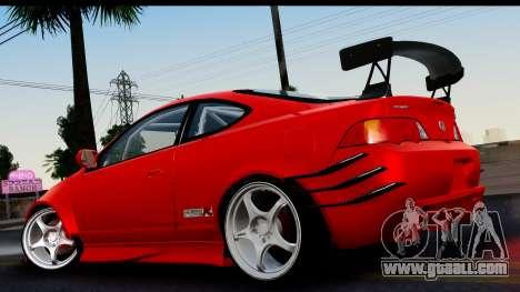 Honda Integra Type R Time Attack HQLM for GTA San Andreas left view