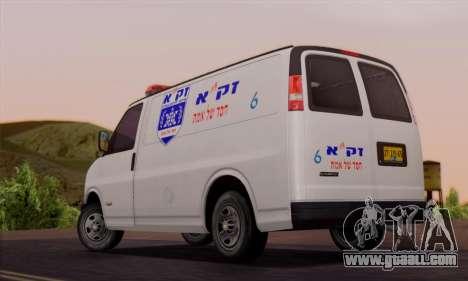 Chevrolet Exspress Ambulance for GTA San Andreas back left view