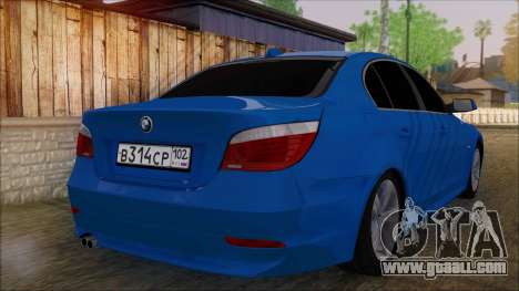 BMW 520i E60 for GTA San Andreas left view