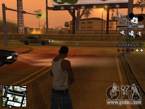 C-HUD Evil Mickey for GTA San Andreas third screenshot