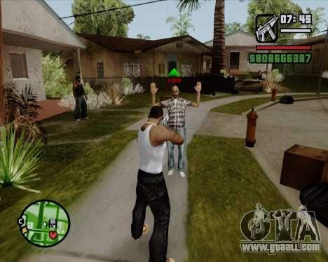 Digital indicator life opponents for GTA San Andreas