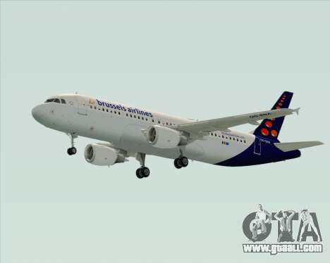Airbus A320-200 Brussels Airlines for GTA San Andreas right view