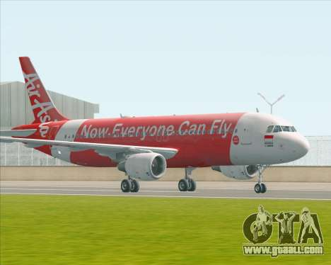 Airbus A320-200 Indonesia AirAsia for GTA San Andreas left view