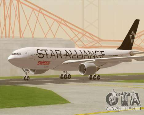 Airbus A330-200 SWISS (Star Alliance Livery) for GTA San Andreas inner view