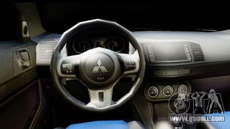 Mitsubishi Lancer X RE-Racing Edition for GTA San Andreas back left view