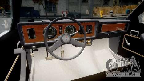 Ford Fairmont 1978 v1.1 for GTA 4 back view